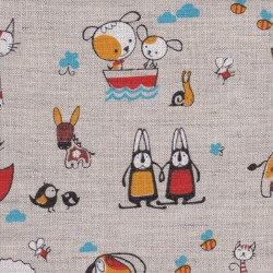 Linen/cotton blend  F111-n-animals